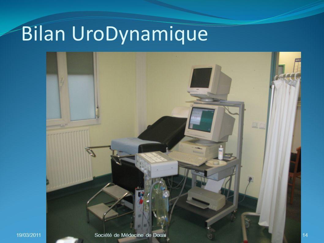 Bilan UroDynamique 19/03/2011 Société de Médecine de Douai