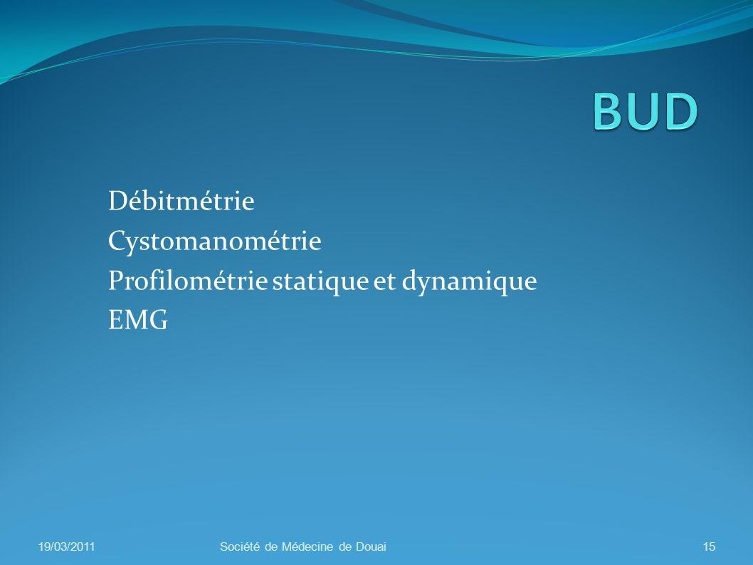 Débitmétrie Cystomanométrie Profilométrie statique et dynamique EMG