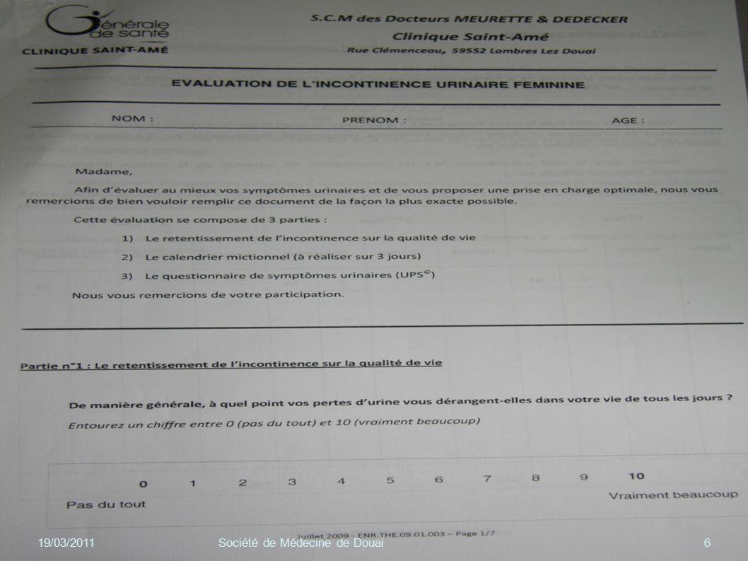19/03/2011 Société de Médecine de Douai