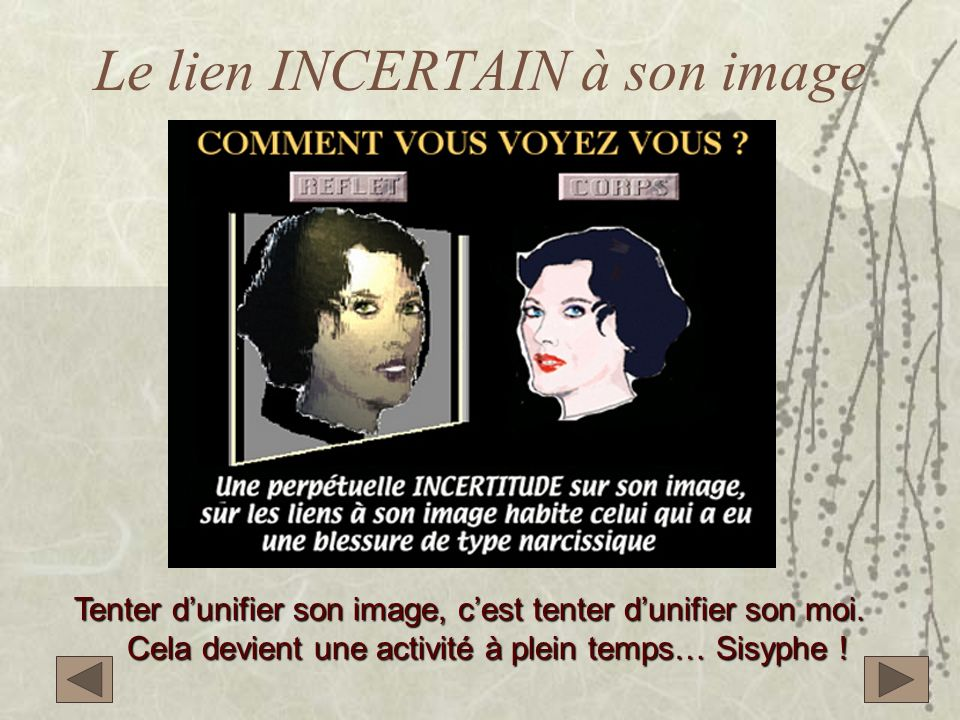 Le lien INCERTAIN à son image