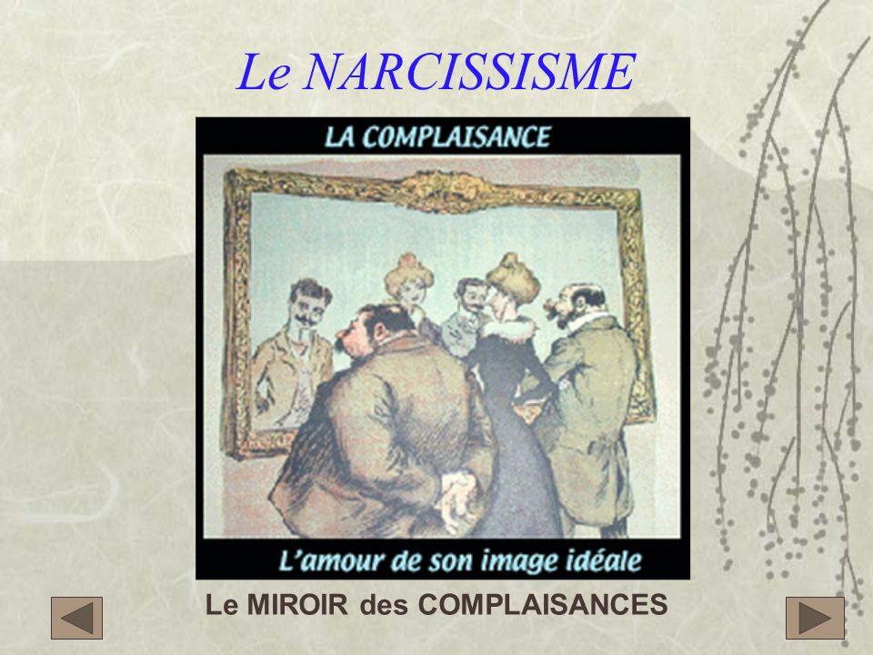 Le NARCISSISME Le MIROIR des COMPLAISANCES