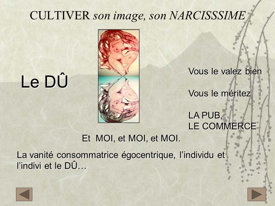 CULTIVER son image, son NARCISSSIME