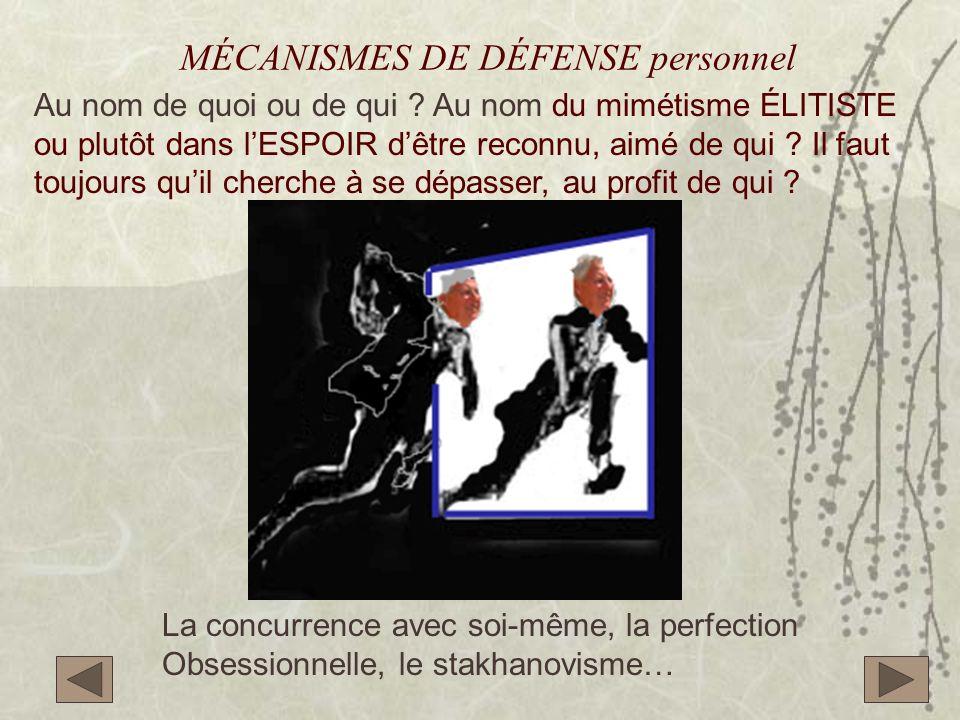MÉCANISMES DE DÉFENSE personnel