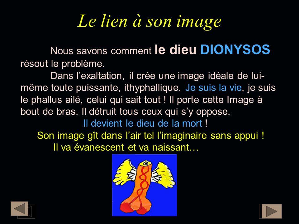 Le lien à son image Nous savons comment le dieu DIONYSOS résout le problème.