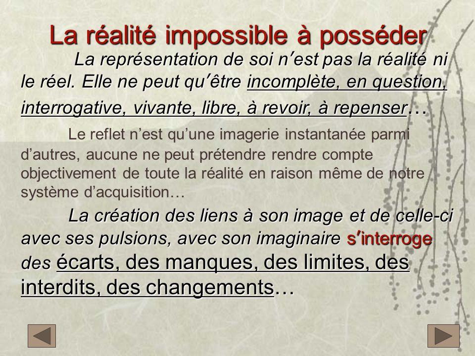 La réalité impossible à posséder