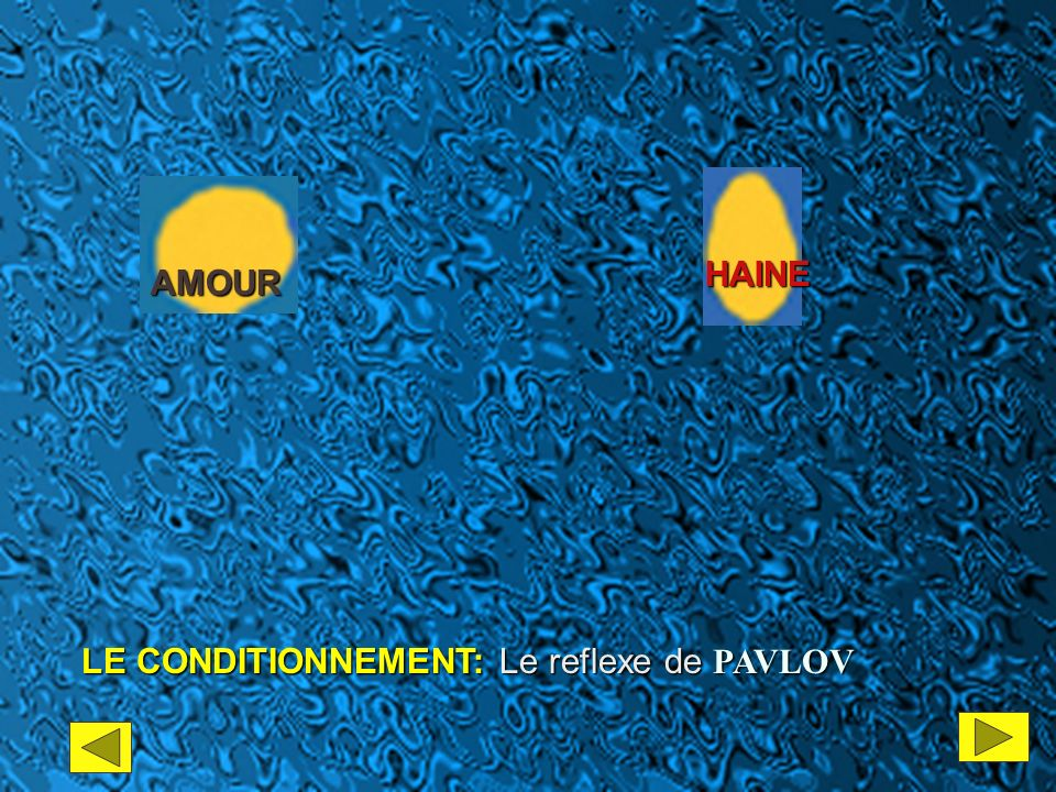 HAINE AMOUR LE CONDITIONNEMENT: Le reflexe de PAVLOV