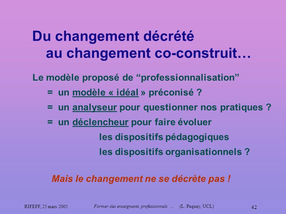 Du changement décrété au changement co-construit…