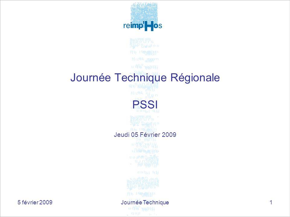 Journée Technique Régionale PSSI
