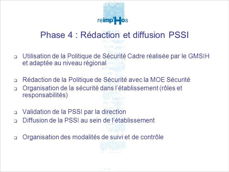 Phase 4 : Rédaction et diffusion PSSI