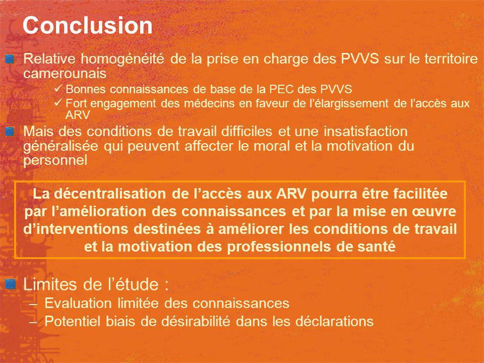 Conclusion Limites de l'étude :