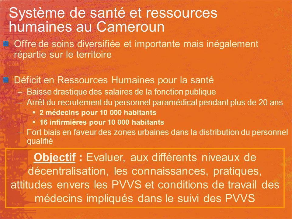 Système de santé et ressources humaines au Cameroun