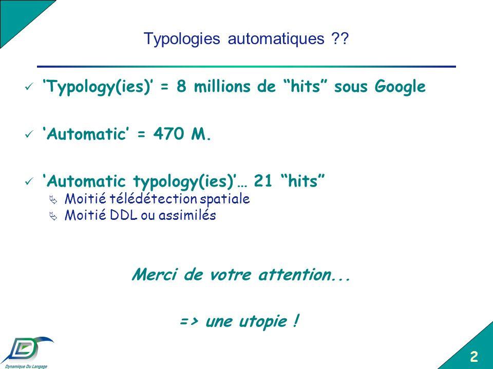 Typologies automatiques