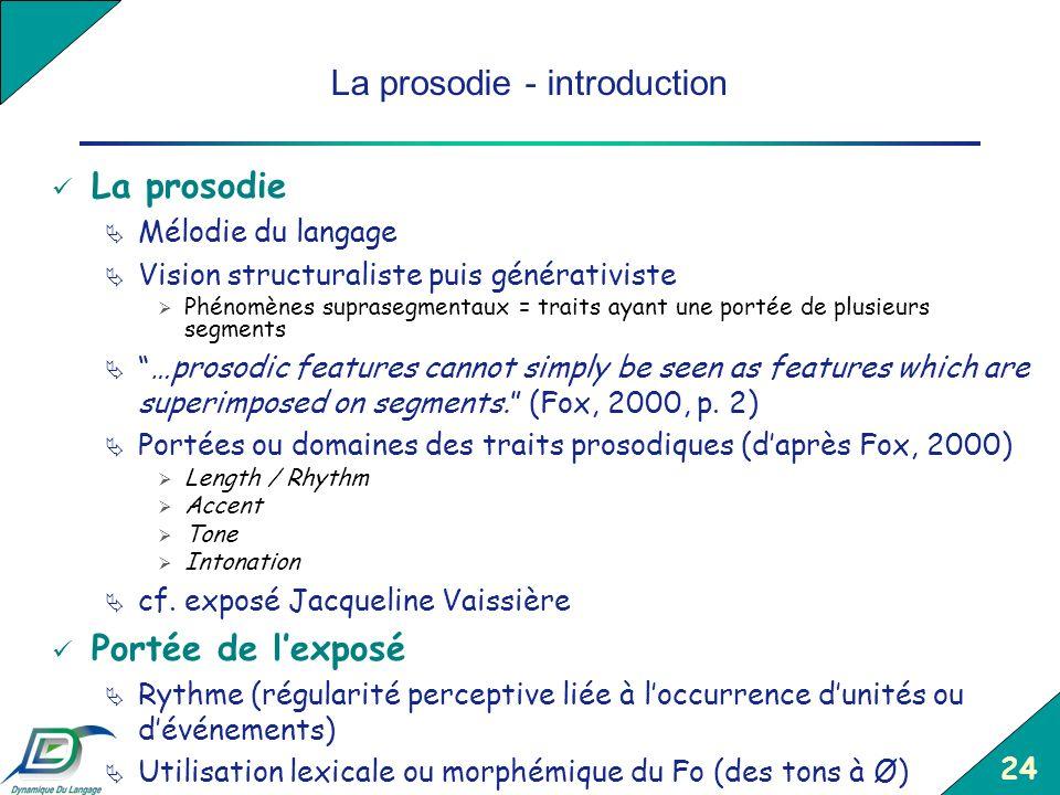 La prosodie - introduction
