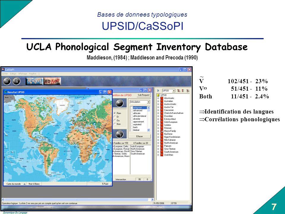 Bases de donnees typologiques UPSID/CaSSoPI