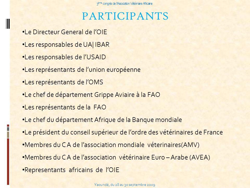 3ème congrès de l Association Vétérinaire Africaine