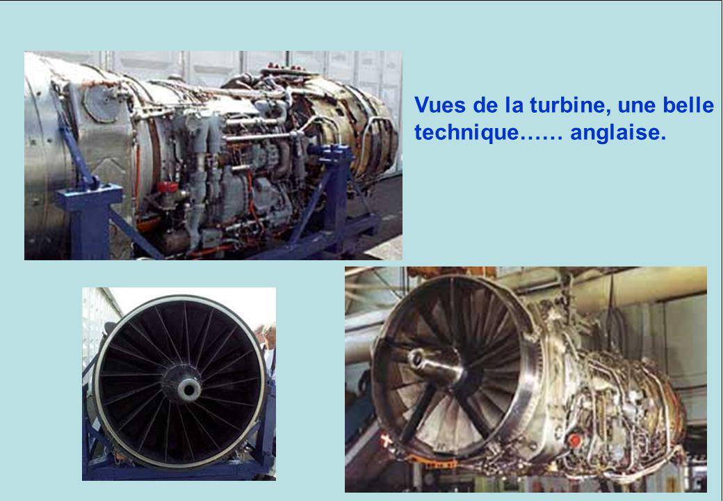 Vues de la turbine, une belle technique…… anglaise.