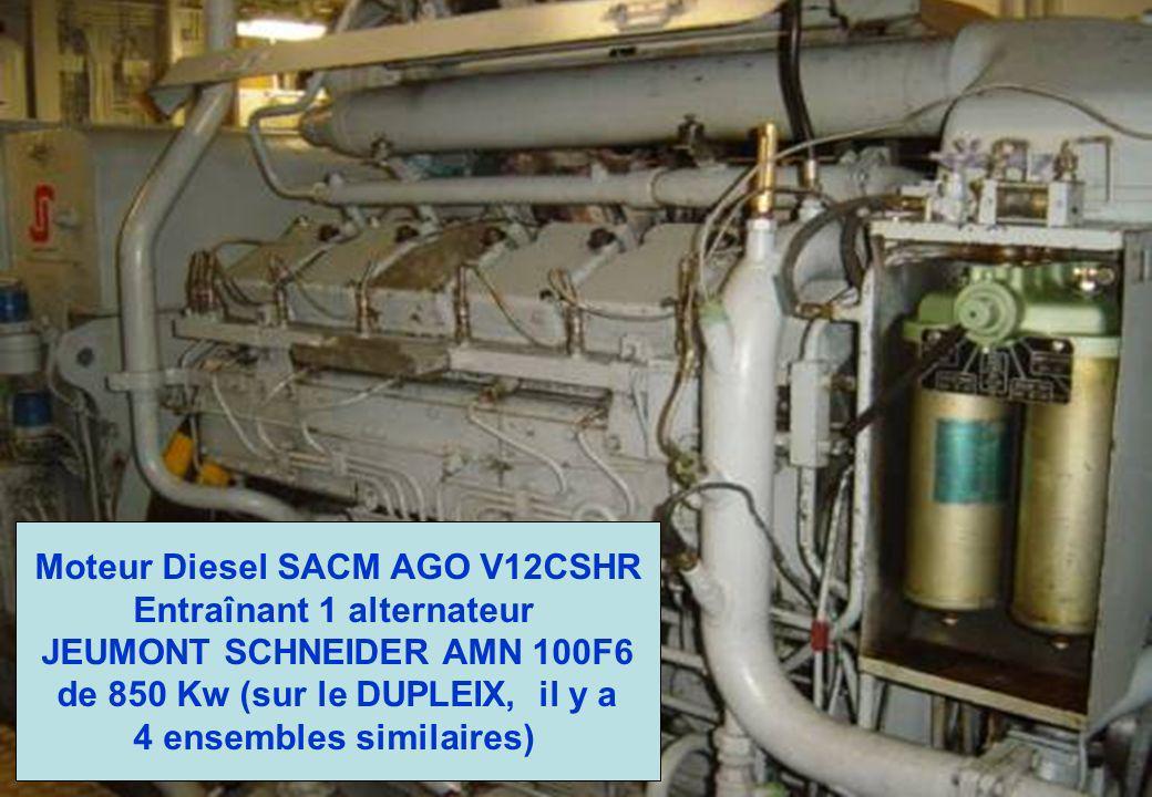 Moteur Diesel SACM AGO V12CSHR Entraînant 1 alternateur