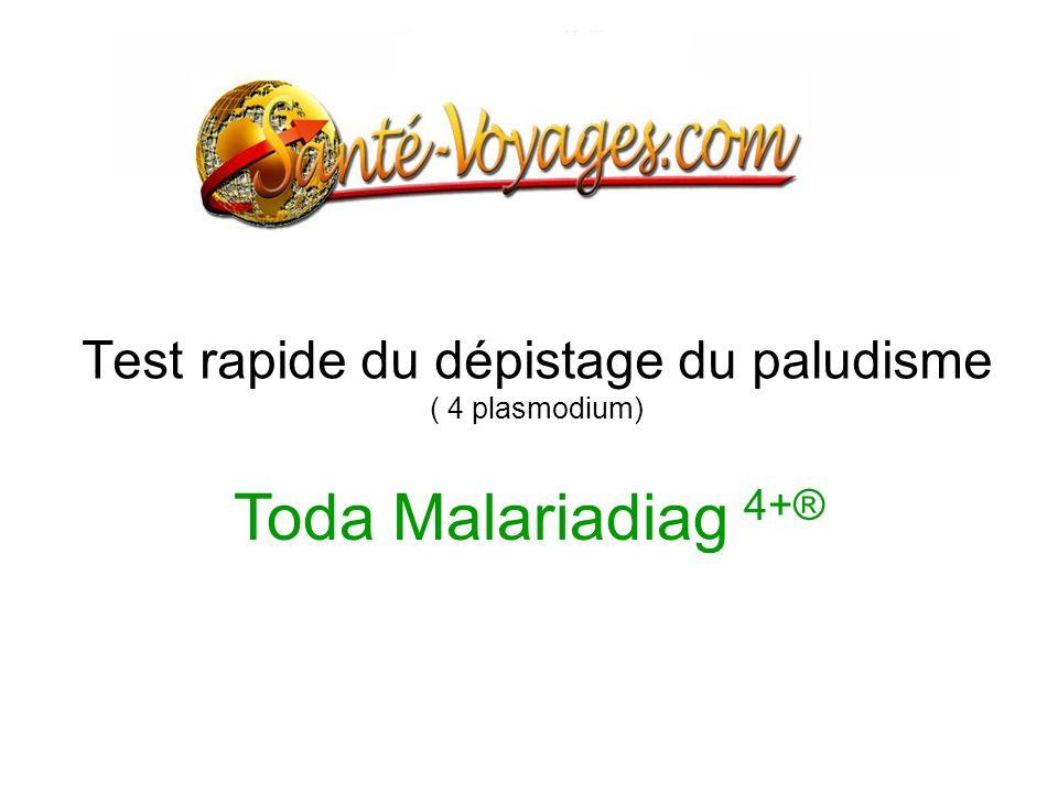 Test rapide du dépistage du paludisme ( 4 plasmodium)
