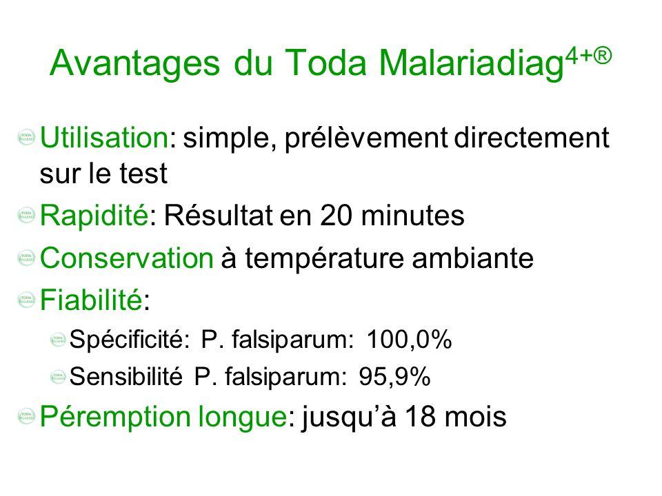 Avantages du Toda Malariadiag4+®