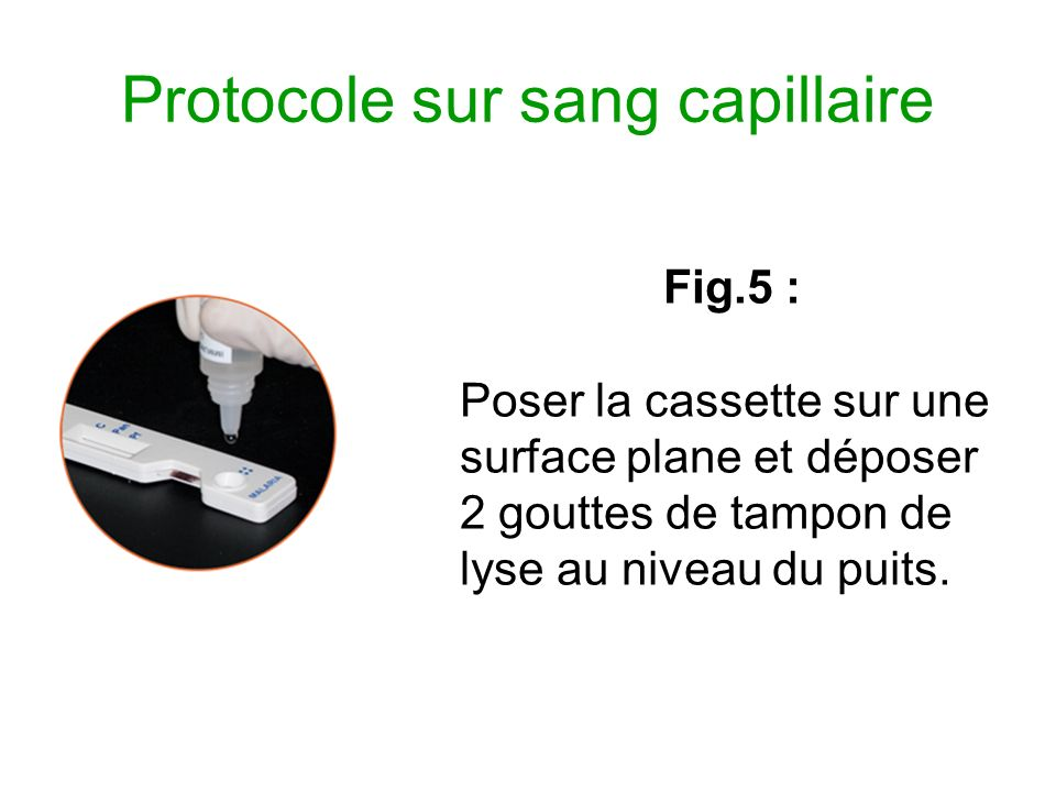 Protocole sur sang capillaire