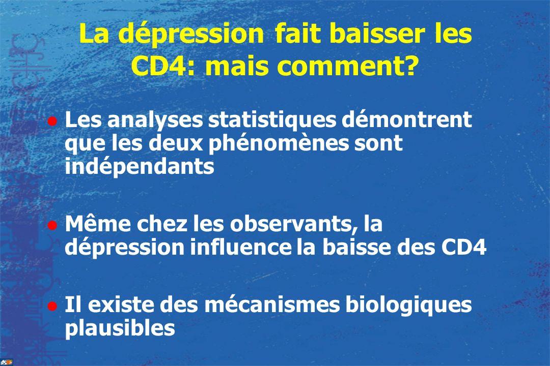 La dépression fait baisser les CD4: mais comment