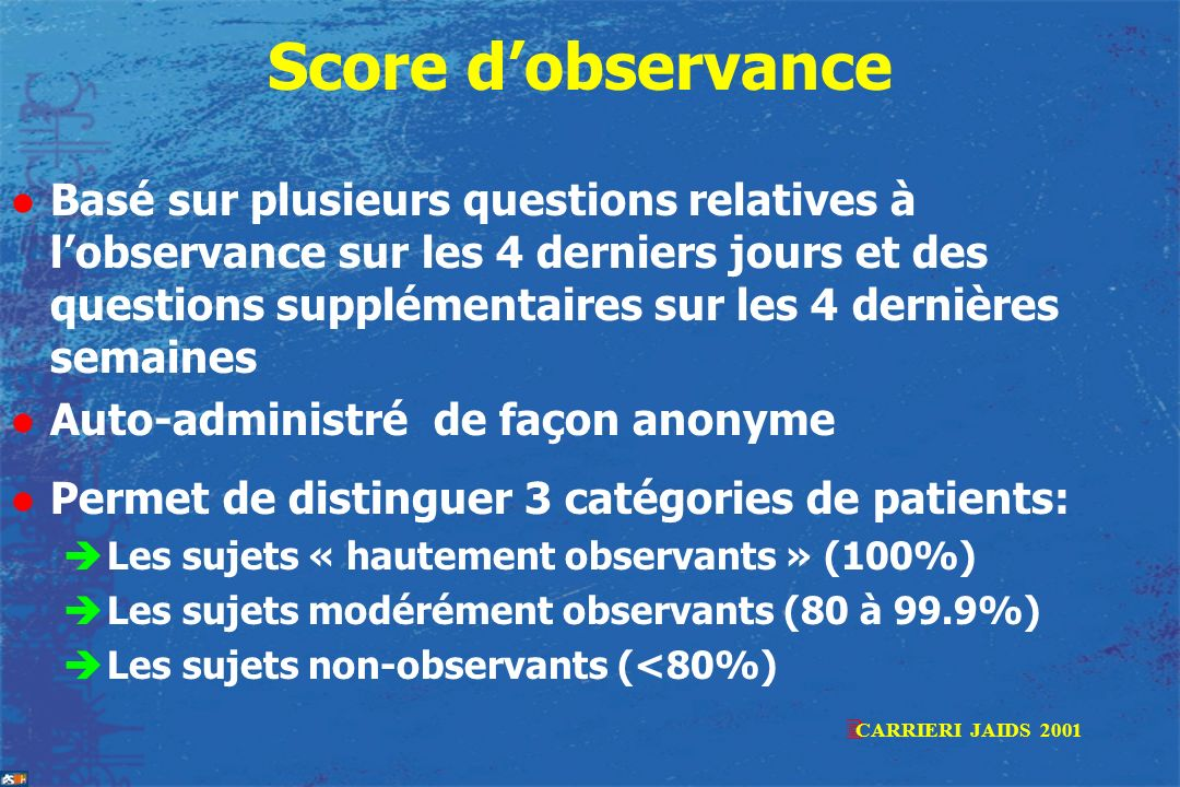 Score d'observance