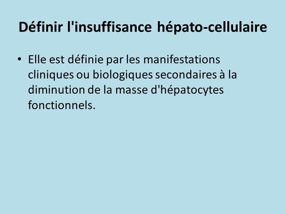 Définir l insuffisance hépato-cellulaire