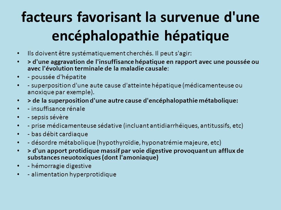 facteurs favorisant la survenue d une encéphalopathie hépatique