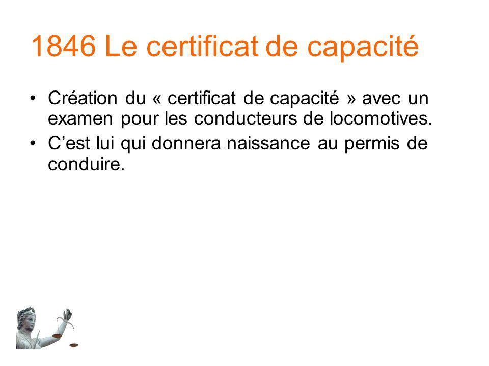 1846 Le certificat de capacité