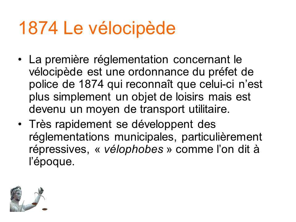 1874 Le vélocipède