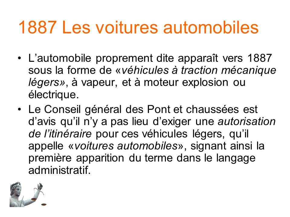 1887 Les voitures automobiles