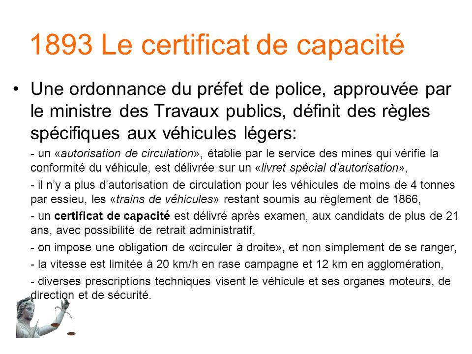 1893 Le certificat de capacité
