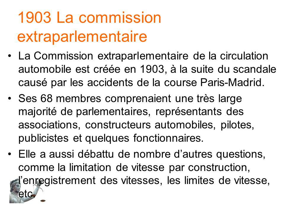1903 La commission extraparlementaire