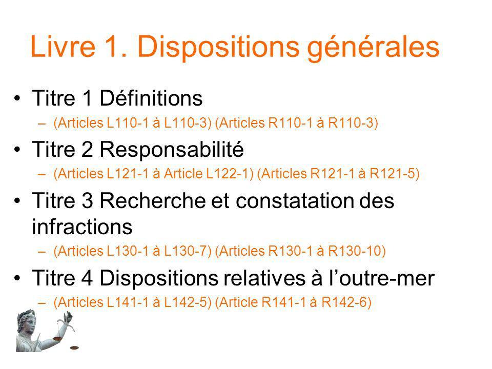 Livre 1. Dispositions générales