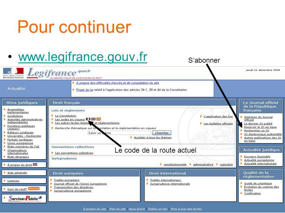 Pour continuer www.legifrance.gouv.fr S'abonner
