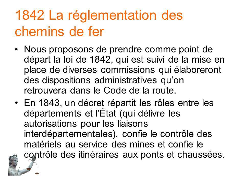 1842 La réglementation des chemins de fer