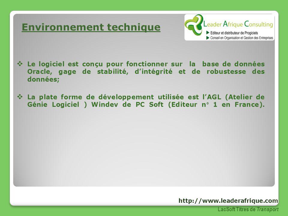 Environnement technique