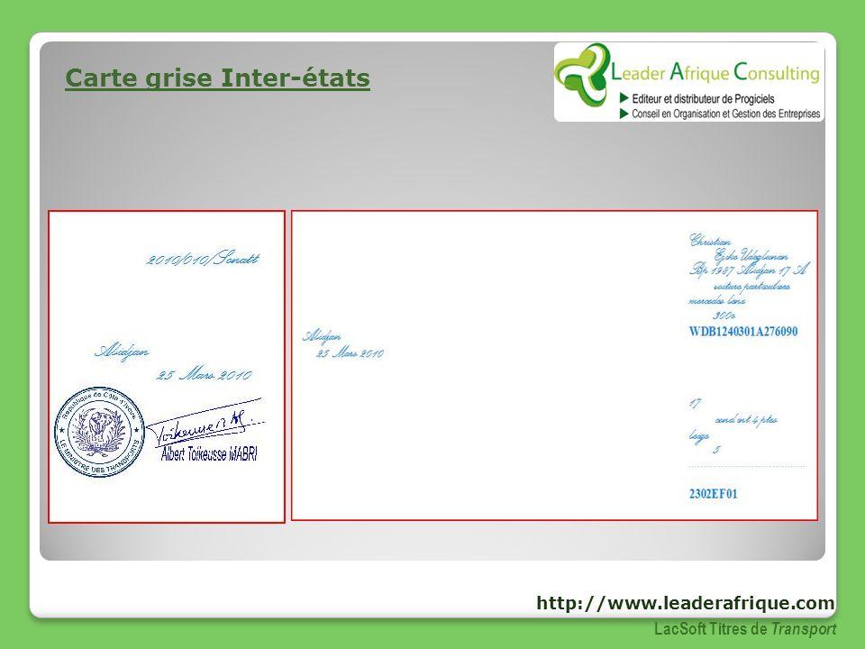 Carte grise Inter-états