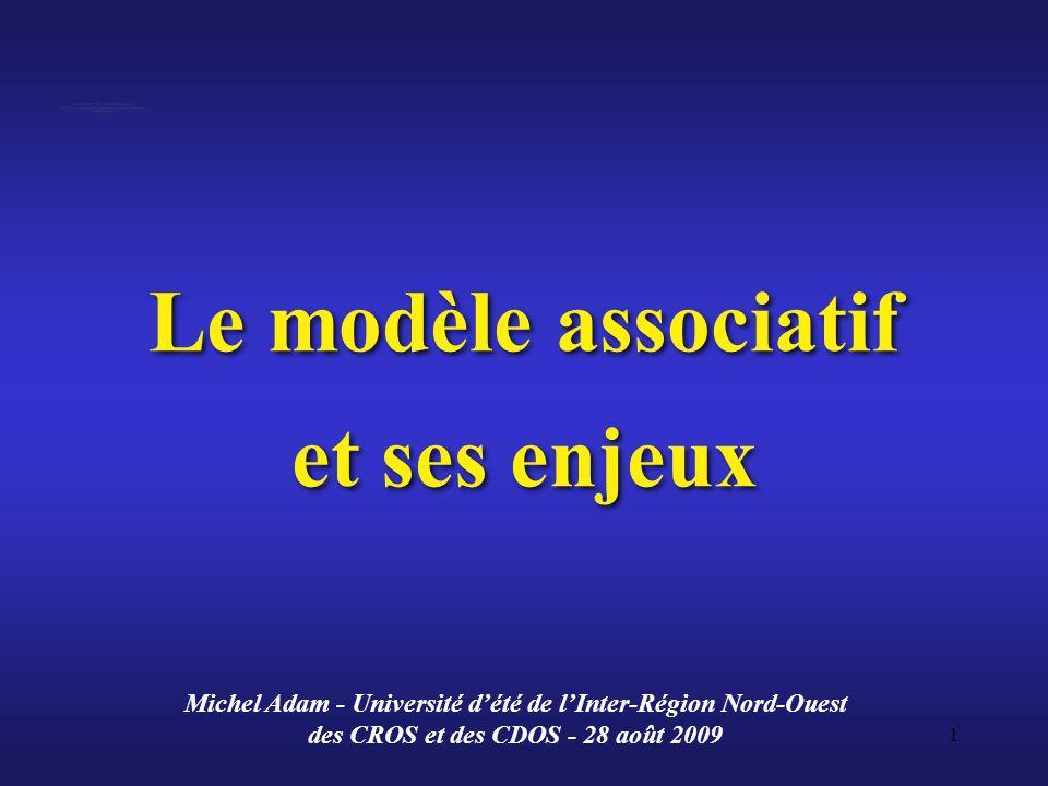 Le modèle associatif et ses enjeux