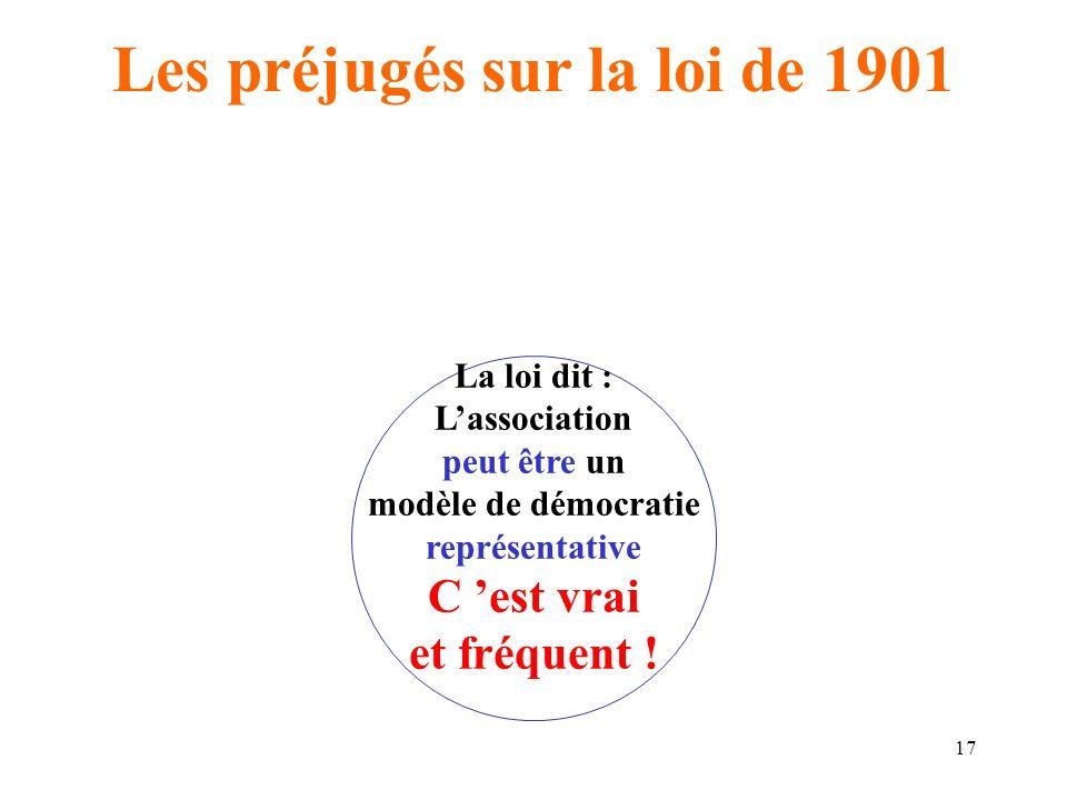 Les préjugés sur la loi de 1901