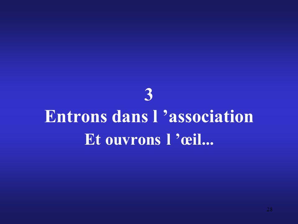 3 Entrons dans l 'association