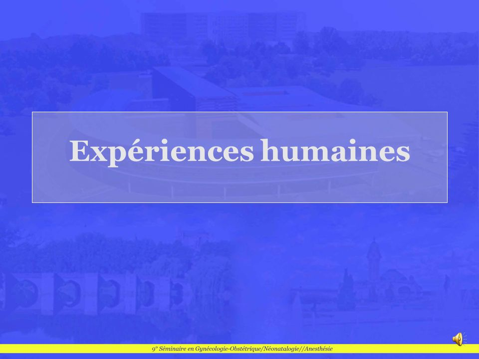 Expériences humaines