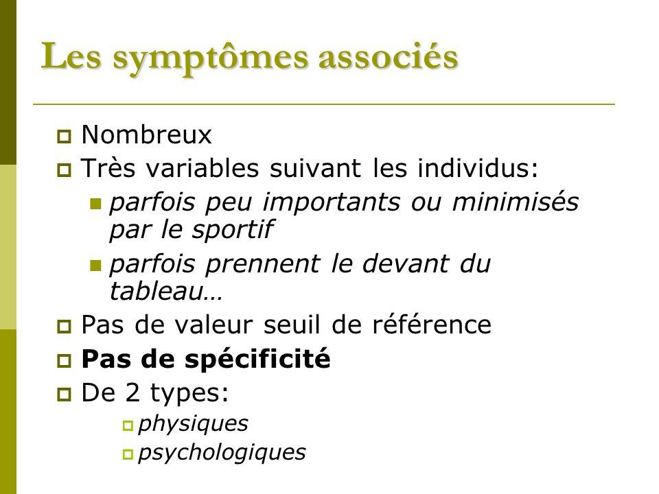 Les symptômes associés