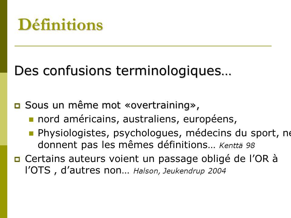 Définitions Des confusions terminologiques…