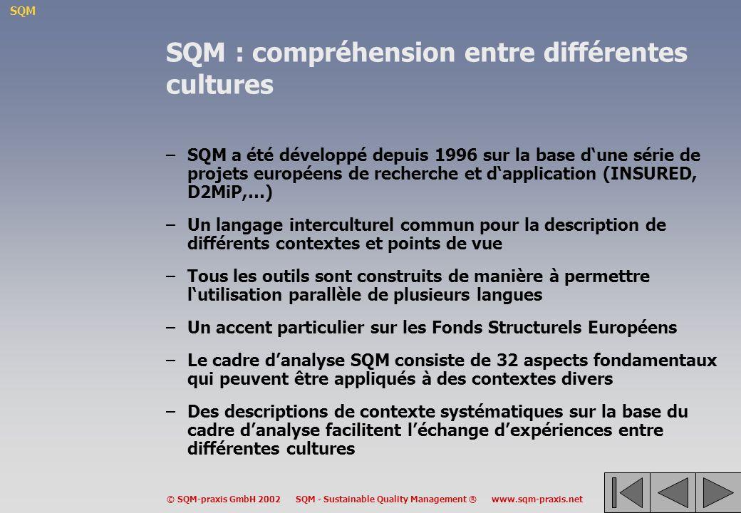 SQM : compréhension entre différentes cultures