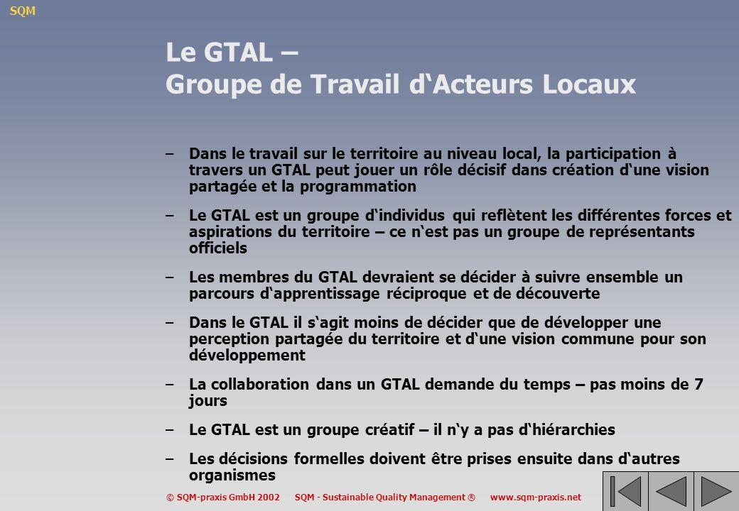 Le GTAL – Groupe de Travail d'Acteurs Locaux