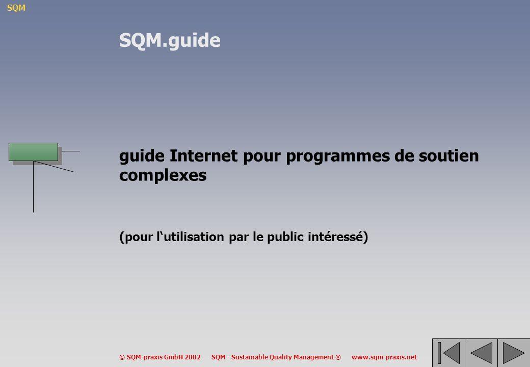 SQM.guide guide Internet pour programmes de soutien complexes