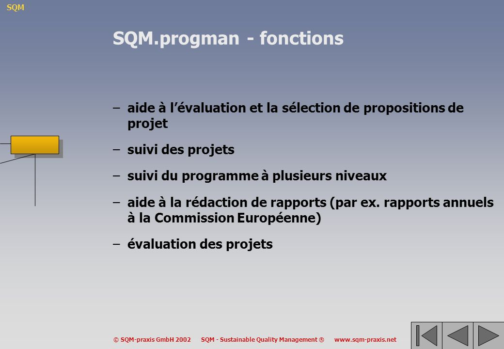 SQM.progman - fonctions