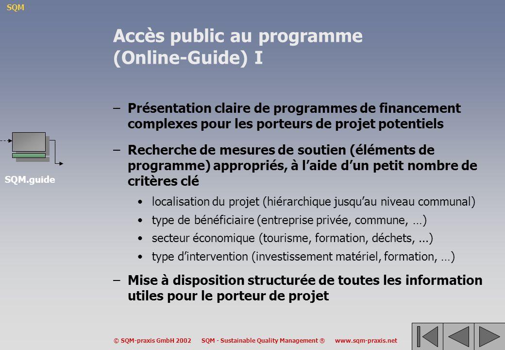 Accès public au programme (Online-Guide) I