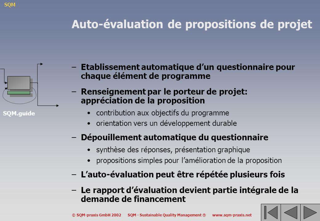 Auto-évaluation de propositions de projet